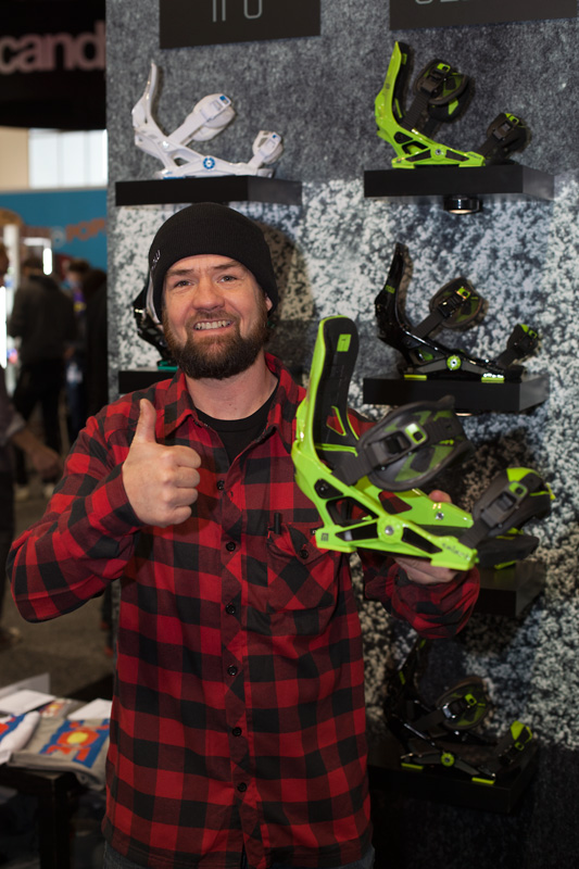 "Now founder JF Pelchat shows off the latest version of the Now Select bindings, featuring new Hyperfuse stitchless, spineless, and seamless straps. Without a doubt, ""Best in Show - Bindings"""