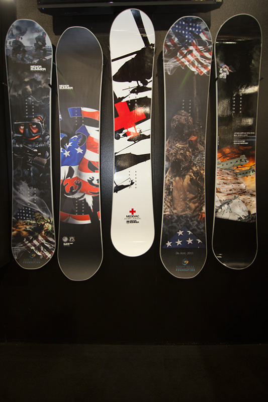 """Never Summer expands on their """"Brothers in Arms"""" military snowboards."""