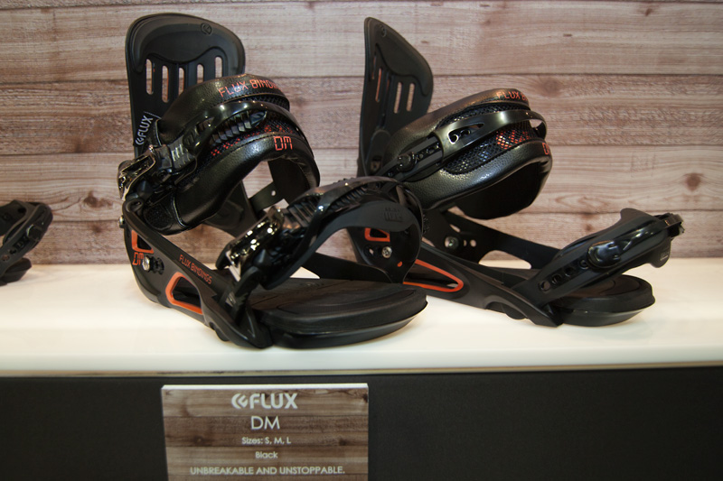 Flux's impressive DM all-mountain/freeride bindings.